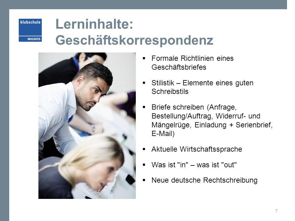 Lerninhalte: Businesscode und Auftritt  Das eigene Erscheinungsbild  Farbenlehre / Farbtypen  Kombinationen/Accessoires  Schminkkurs (Business Look)  Auftrittskompetenz  Der 1.