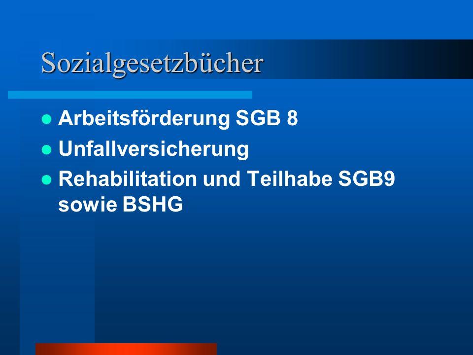 Leistungen zur Teilhabe am Arbeitsleben Durch das SGB IX § 34 Auch: Leistungen an Arbeitgeber 1.