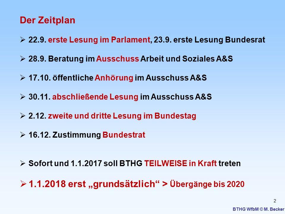 2 Der Zeitplan  22.9. erste Lesung im Parlament, 23.9. erste Lesung Bundesrat  28.9. Beratung im Ausschuss Arbeit und Soziales A&S  17.10. öffentli