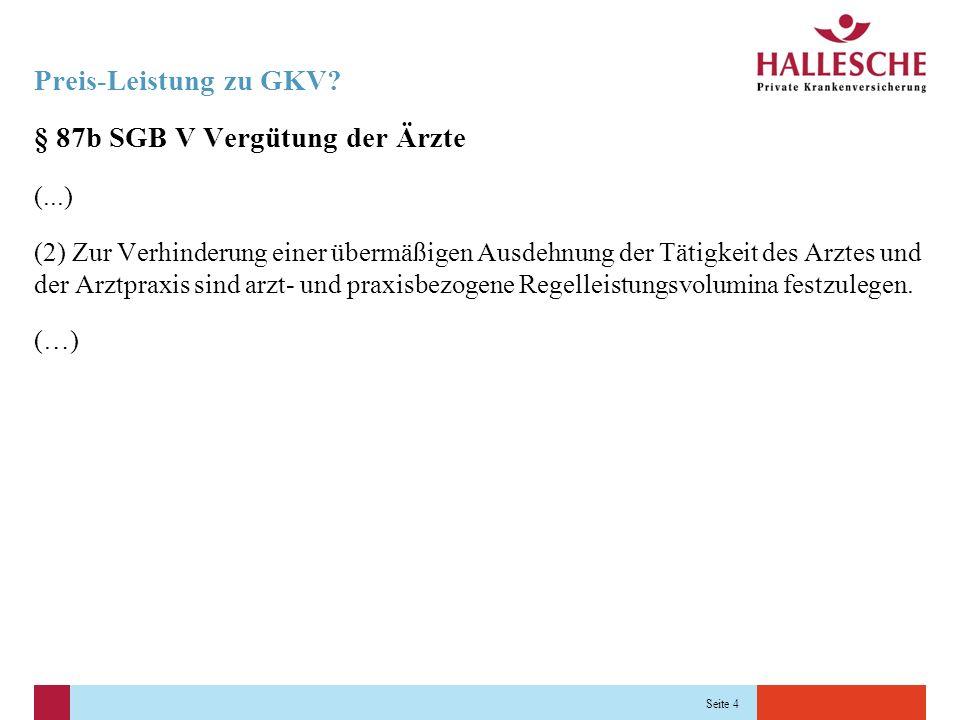 Seite 5 Preis-Leistung zu GKV.