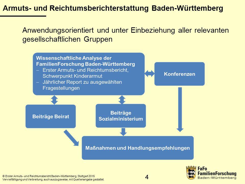 15 Überwiegender Lebensunterhalt © Statistisches Landesamt Baden-Württemberg, Stuttgart, 2015 Vervielfältigung und Verbreitung, auch auszugsweise, mit Quellenangabe gestattet.