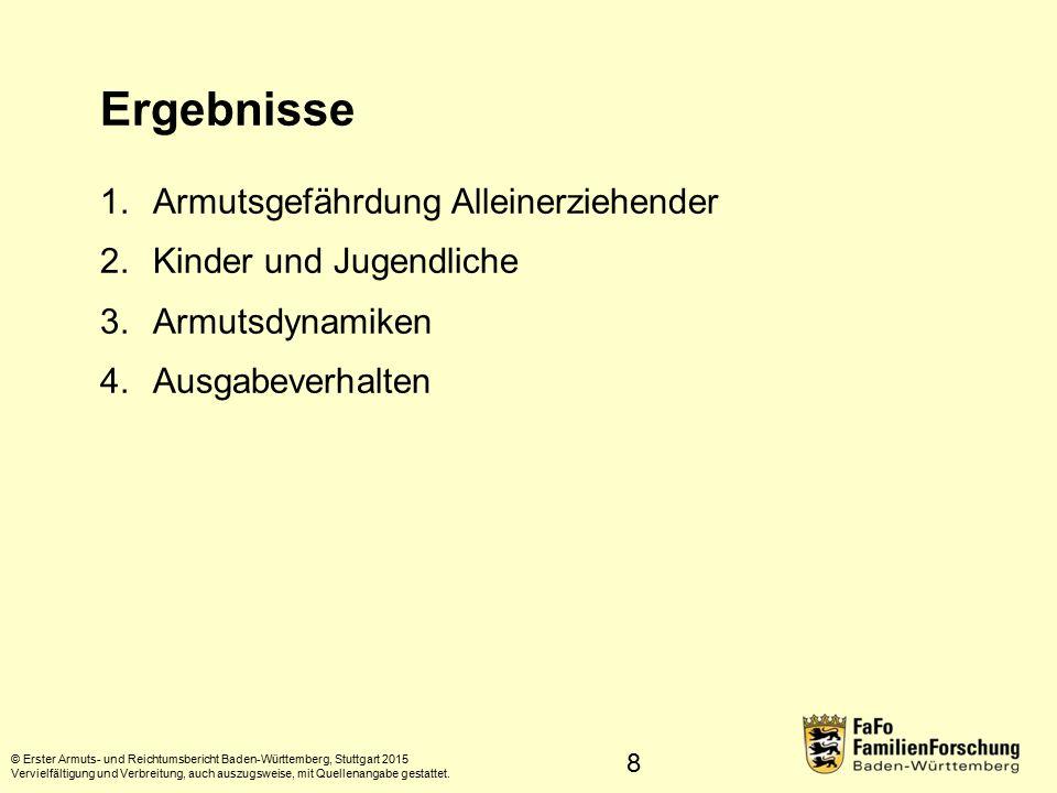 99 Entwicklung © Erster Armuts- und Reichtumsbericht Baden-Württemberg, Stuttgart 2015 Vervielfältigung und Verbreitung, auch auszugsweise, mit Quellenangabe gestattet.