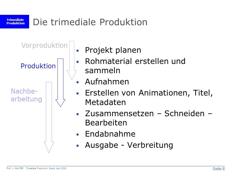 Trimediale Produktion Seite 8 Prof. J.