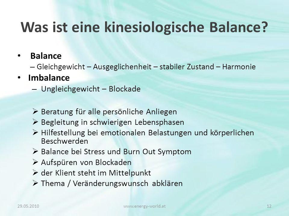 Was ist eine kinesiologische Balance.
