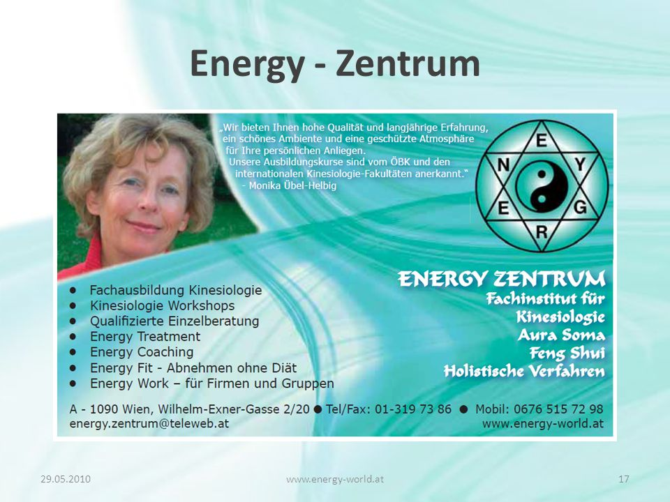 Energy - Zentrum www.energy-world.at