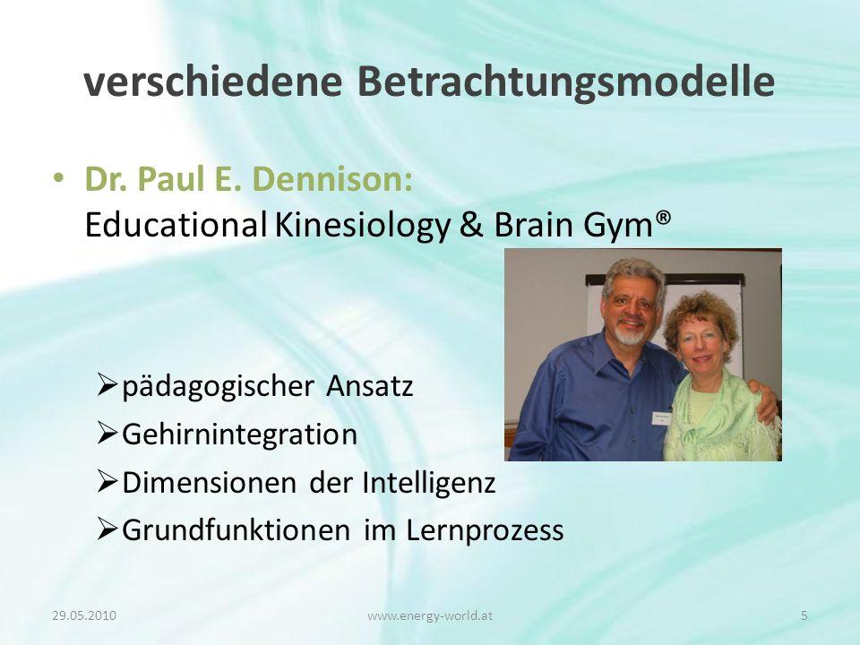 verschiedene Betrachtungsmodelle Dr. Paul E.
