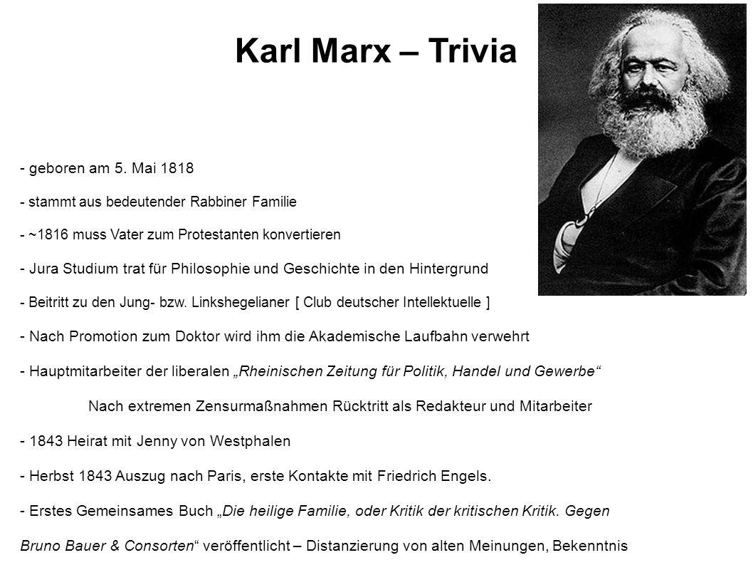 - geboren am 5. Mai 1818 - stammt aus bedeutender Rabbiner Familie - ~1816 muss Vater zum Protestanten konvertieren - Jura Studium trat für Philosophi