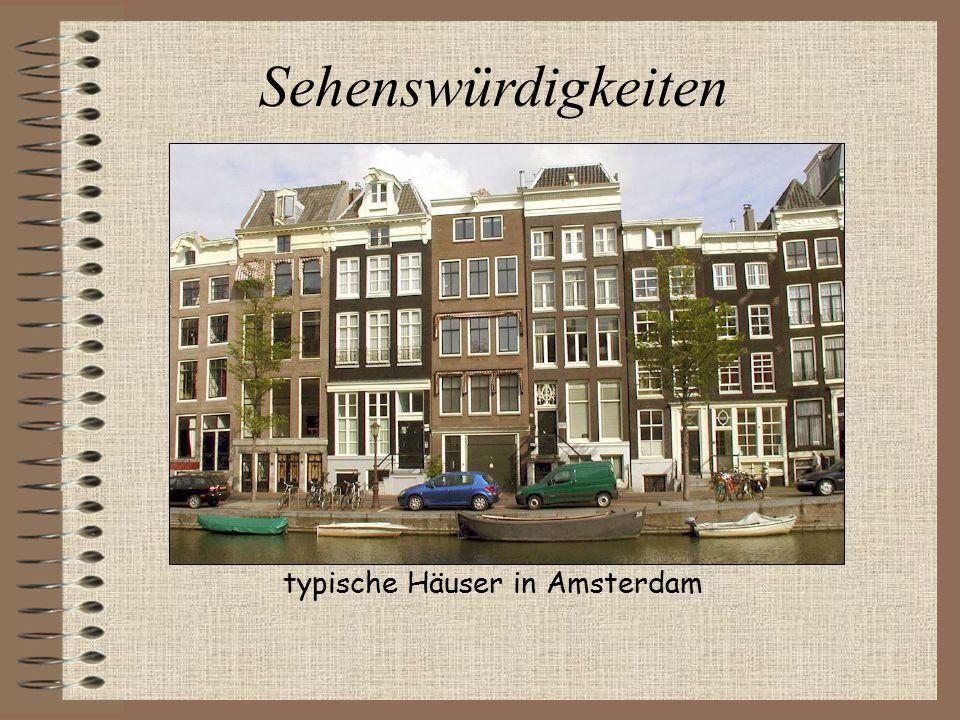 Sehenswürdigkeiten typische Häuser in Amsterdam