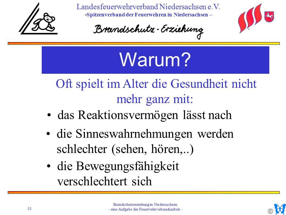 © 10 Brandschutzerziehung in Niedersachsen - eine Aufgabe der Feuerwehrverbandsarbeit - Landesfeuerwehrverband Niedersachsen e.V.