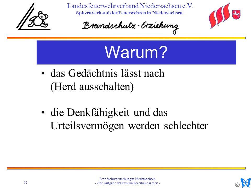© 11 Brandschutzerziehung in Niedersachsen - eine Aufgabe der Feuerwehrverbandsarbeit - Landesfeuerwehrverband Niedersachsen e.V.