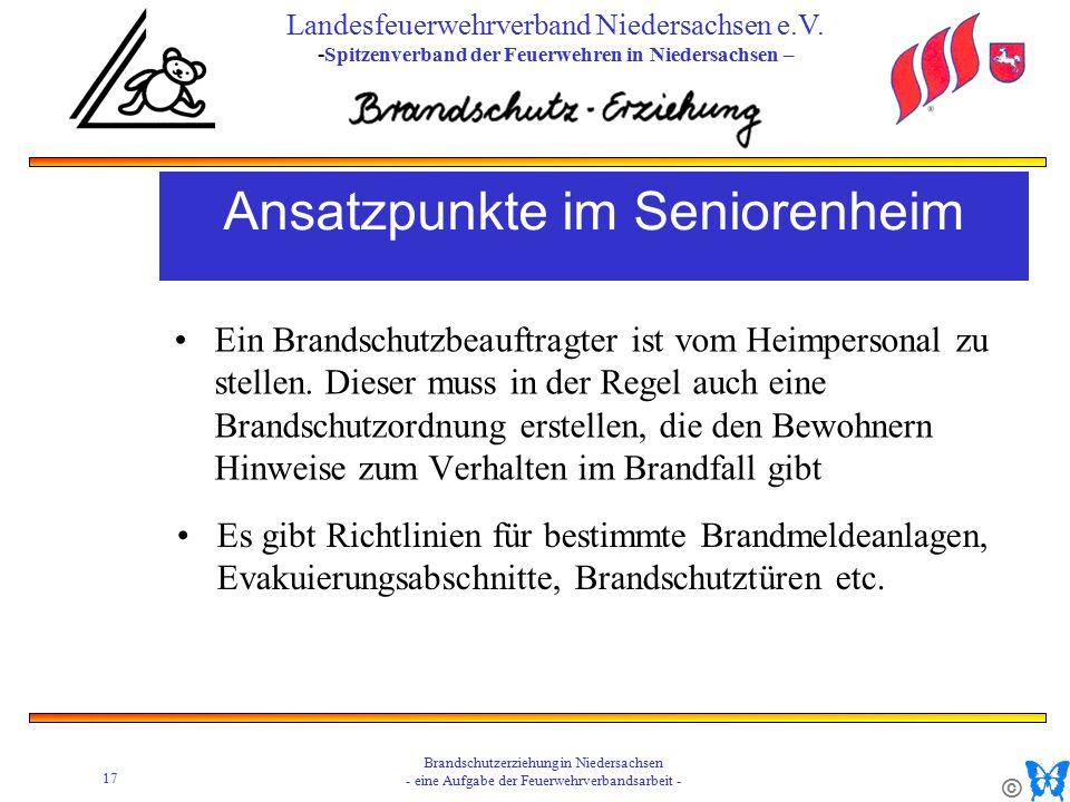 © 17 Brandschutzerziehung in Niedersachsen - eine Aufgabe der Feuerwehrverbandsarbeit - Landesfeuerwehrverband Niedersachsen e.V.