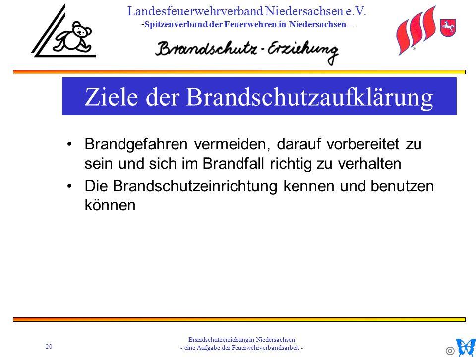© 20 Brandschutzerziehung in Niedersachsen - eine Aufgabe der Feuerwehrverbandsarbeit - Landesfeuerwehrverband Niedersachsen e.V.