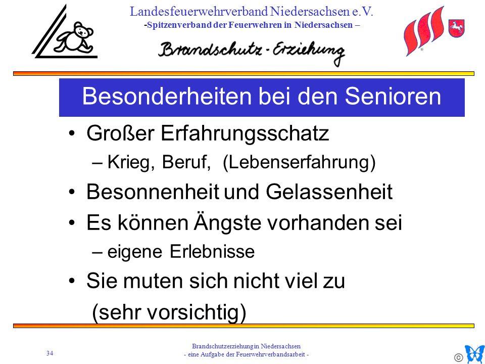 © 34 Brandschutzerziehung in Niedersachsen - eine Aufgabe der Feuerwehrverbandsarbeit - Landesfeuerwehrverband Niedersachsen e.V.