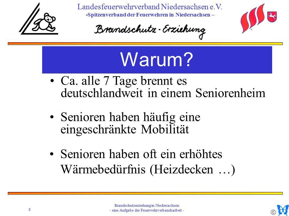 © 8 Brandschutzerziehung in Niedersachsen - eine Aufgabe der Feuerwehrverbandsarbeit - Landesfeuerwehrverband Niedersachsen e.V.