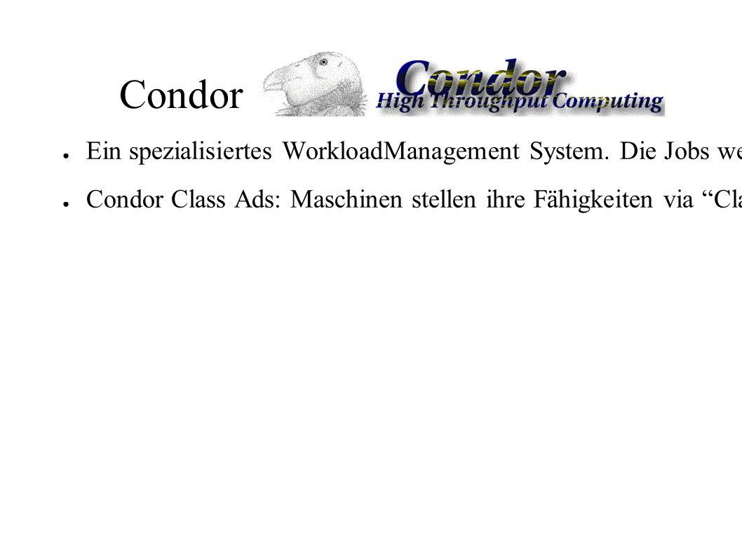 Condor ● Ein spezialisiertes WorkloadManagement System.