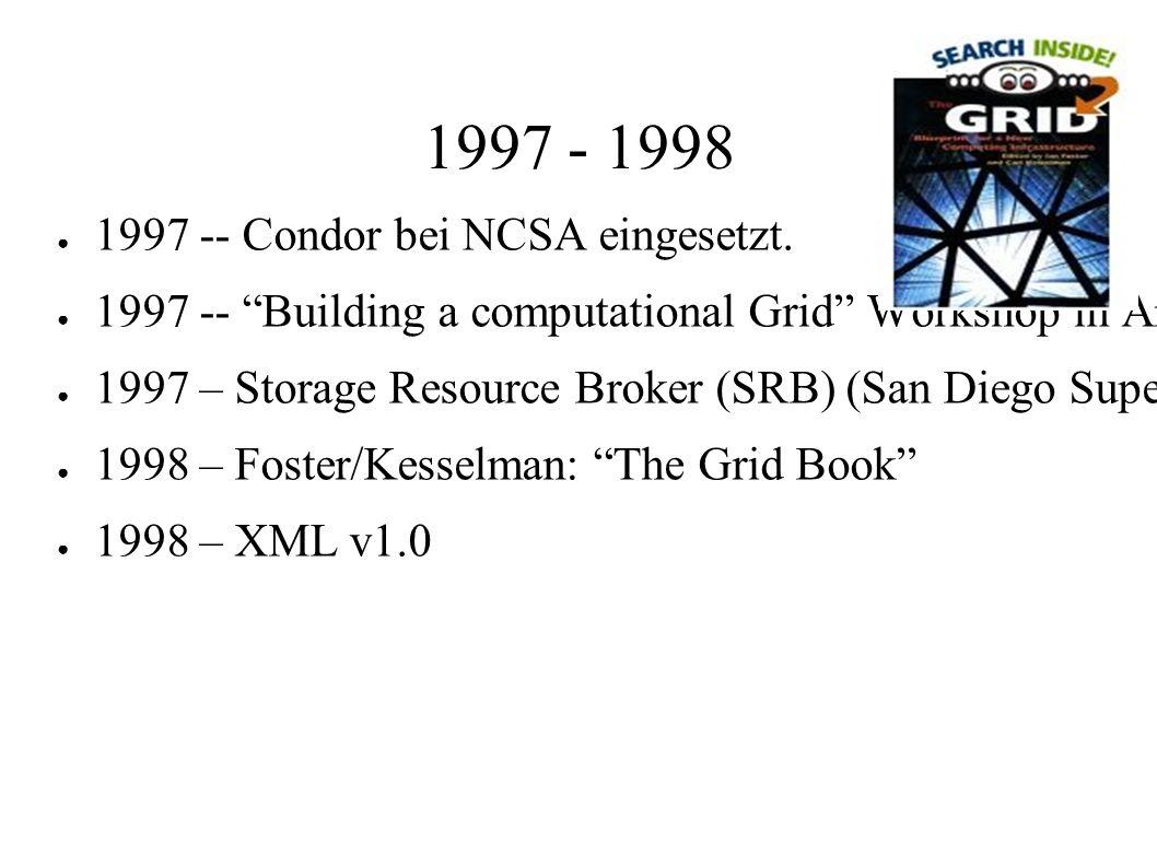 1997 - 1998 ● 1997 -- Condor bei NCSA eingesetzt.