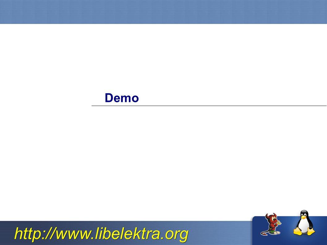 http://www.libelektra.org Demo