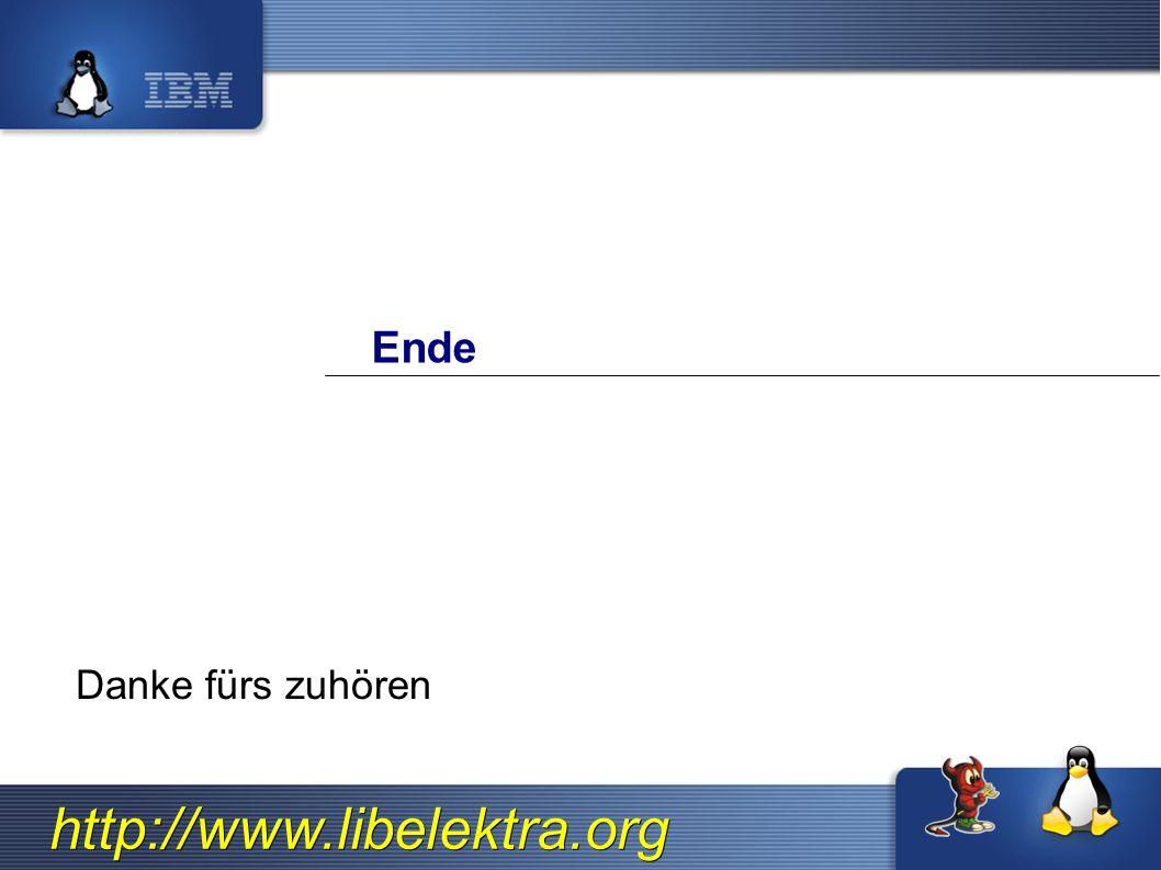 http://www.libelektra.org Ende Danke fürs zuhören