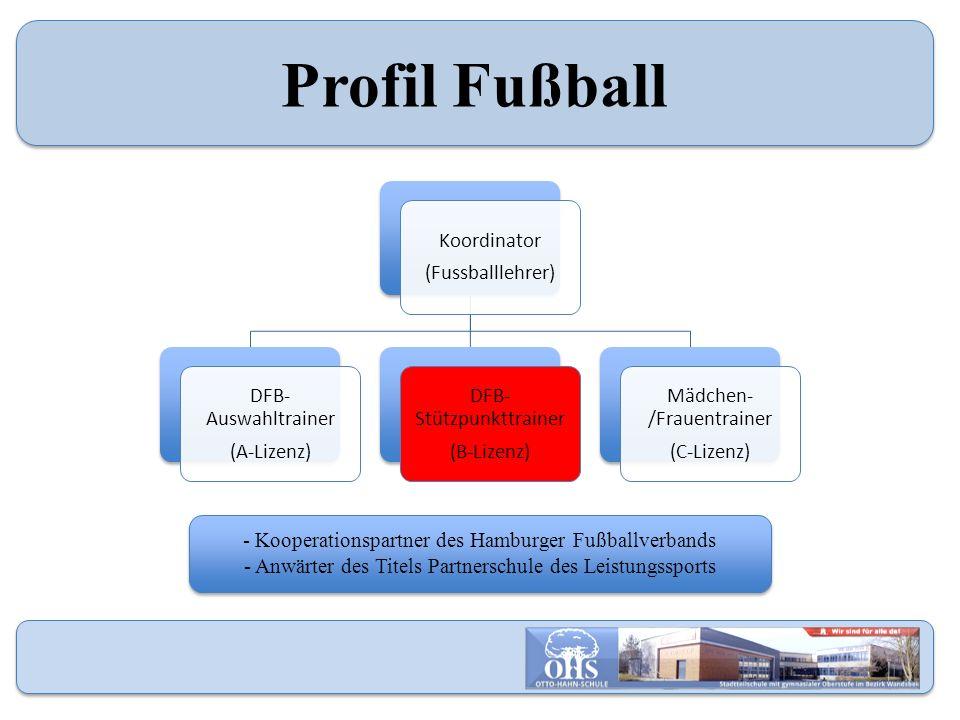 Profil Fußball Koordinator (Fussballlehrer) DFB- Auswahltrainer (A-Lizenz) DFB- Stützpunkttrainer (B-Lizenz) Mädchen- /Frauentrainer (C-Lizenz) - Koop