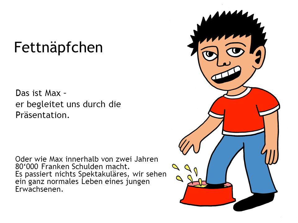 Fettnäpfchen Oder wie Max innerhalb von zwei Jahren 80'000 Franken Schulden macht.