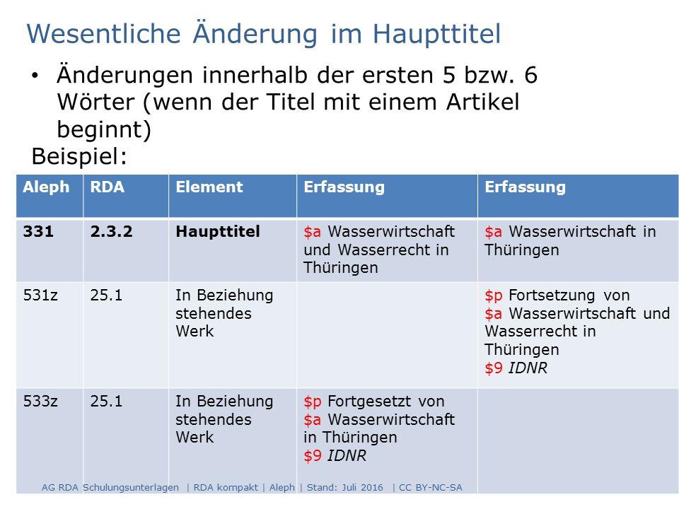 81 AlephRDAElementErfassung 3312.3.2Haupttitel$a Wasserwirtschaft und Wasserrecht in Thüringen $a Wasserwirtschaft in Thüringen 531z25.1In Beziehung s