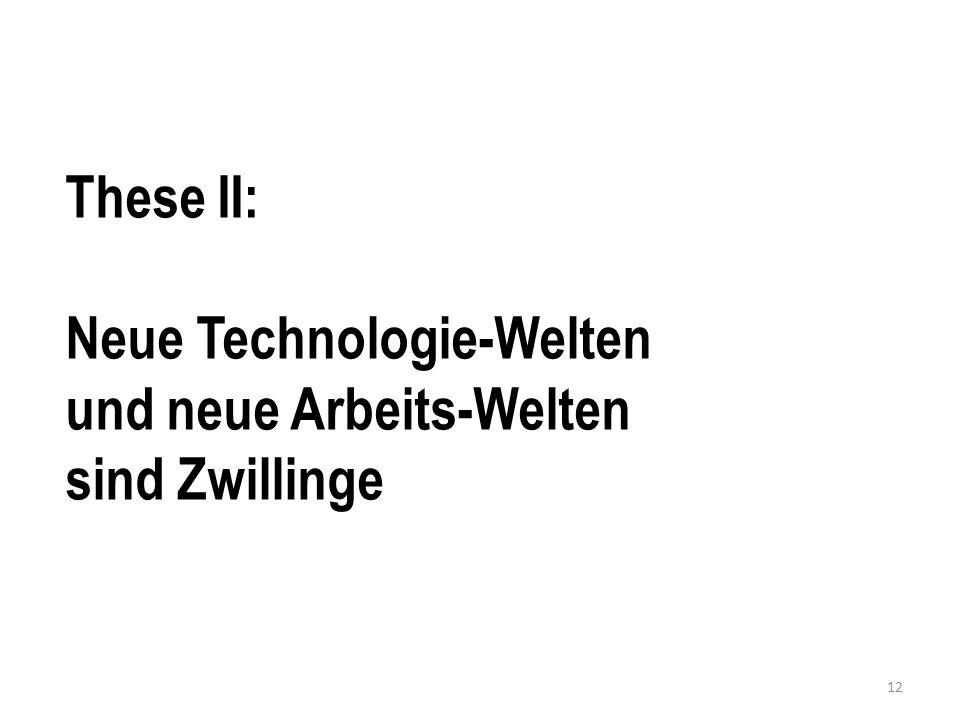 These II: Neue Technologie-Welten und neue Arbeits-Welten sind Zwillinge 12