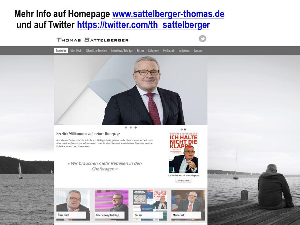 Mehr Info auf Homepage www.sattelberger-thomas.dewww.sattelberger-thomas.de und auf Twitter https://twitter.com/th_sattelbergerhttps://twitter.com/th_sattelberger