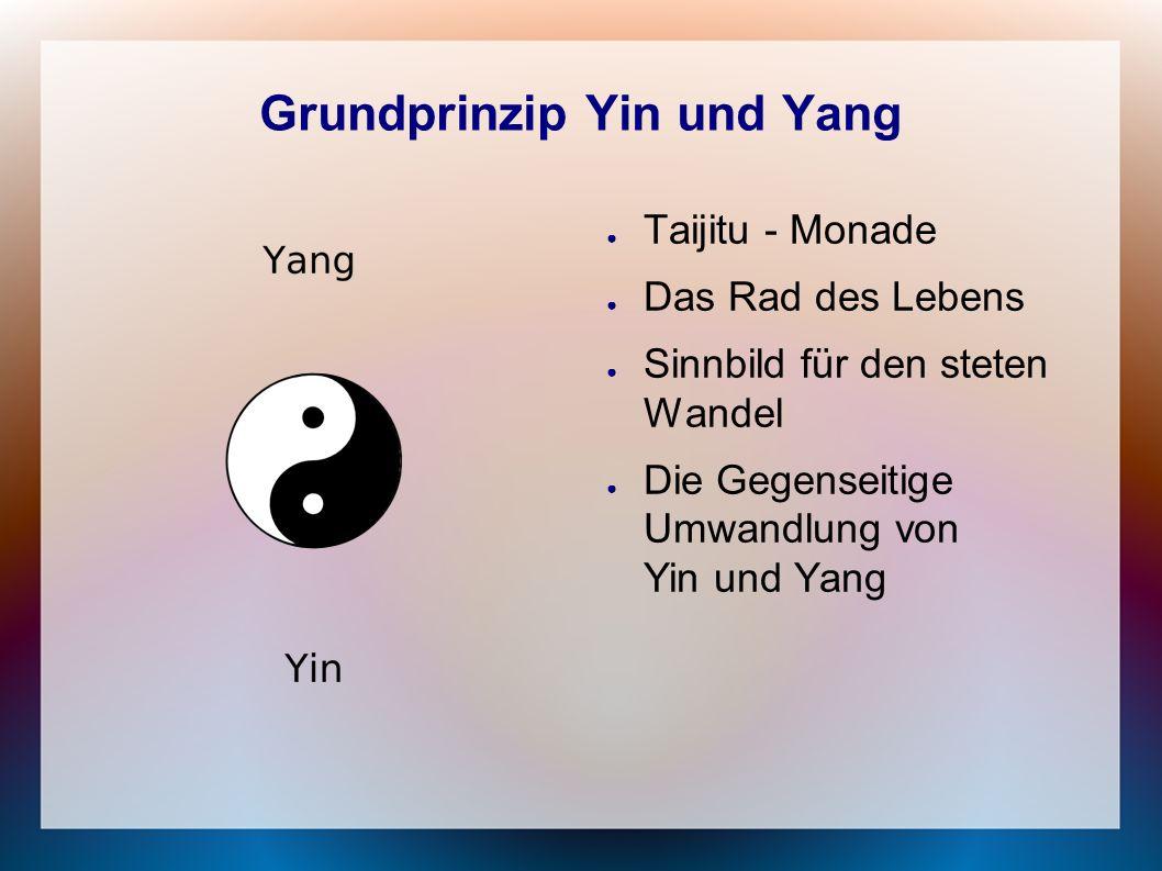 Grundprinzip Yin und Yang ● Taijitu - Monade ● Das Rad des Lebens ● Sinnbild für den steten Wandel ● Die Gegenseitige Umwandlung von Yin und Yang