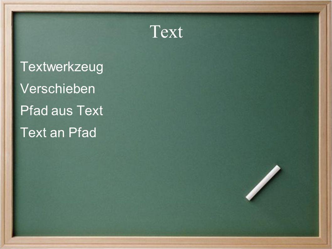 Text Textwerkzeug Verschieben Pfad aus Text Text an Pfad