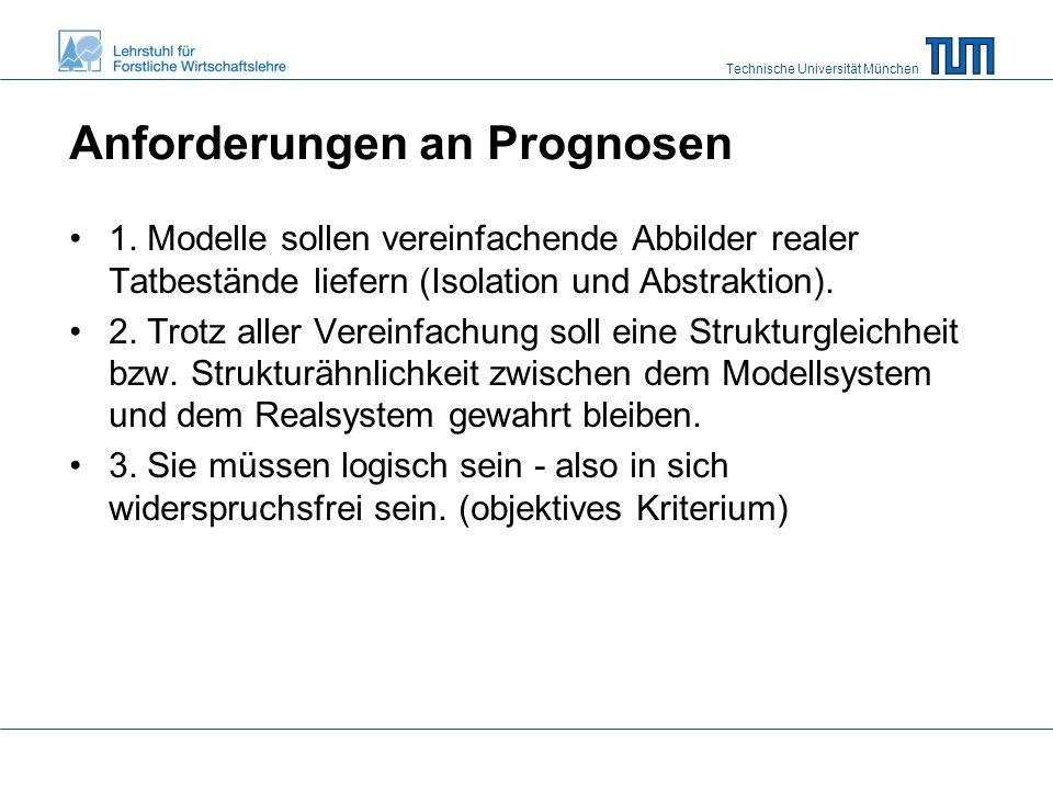 Technische Universität München Anforderungen an Prognosen 1.
