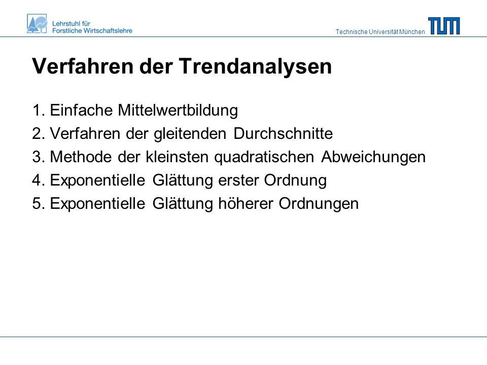 Technische Universität München Verfahren der Trendanalysen 1.