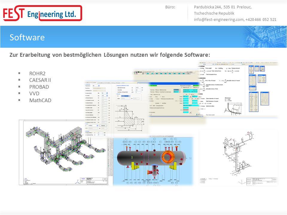 Software Büro: Pardubicka 244, 535 01 Prelouc, Tschechische Republik info@fest-engineering.com, +420 466 052 521 Zur Erarbeitung von bestmöglichen Lös