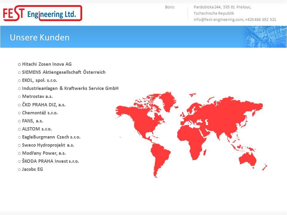 o Hitachi Zosen Inova AG o SIEMENS Aktiengesellschaft Österreich o EKOL, spol.