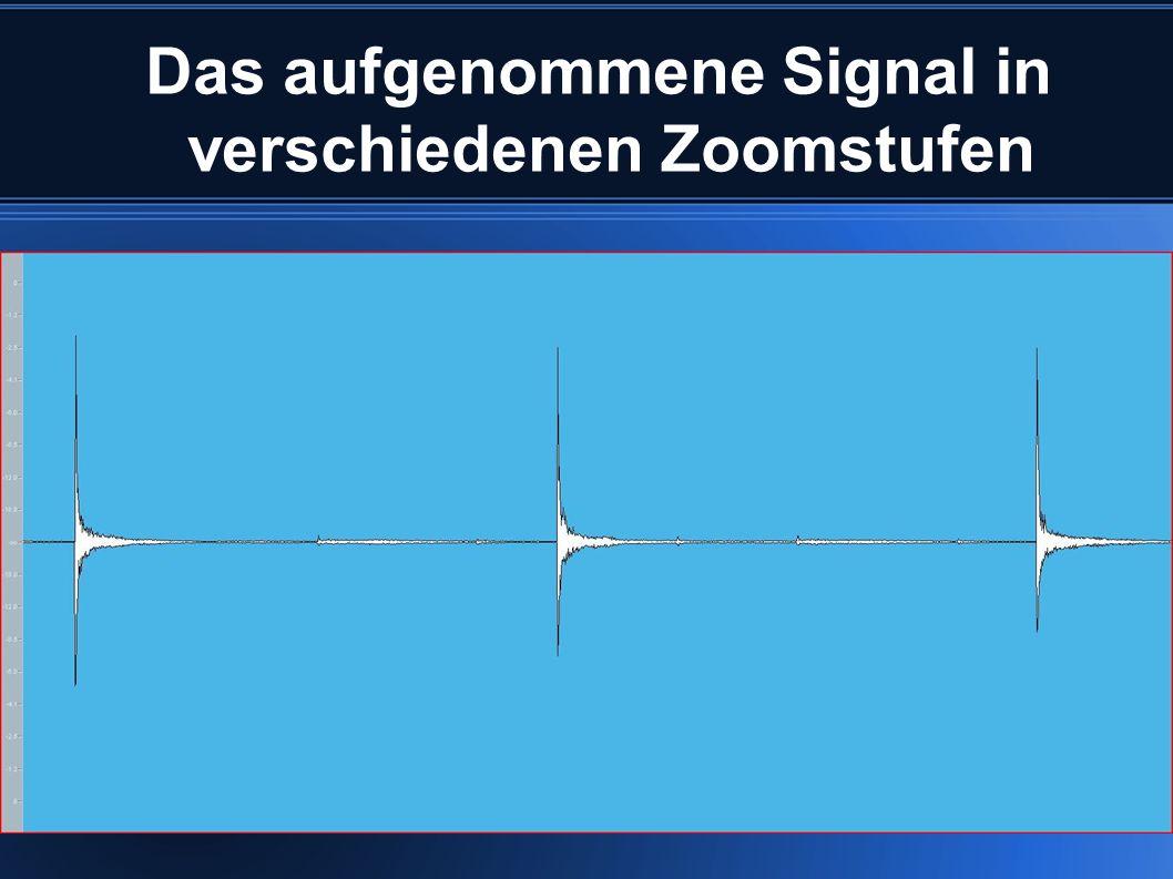 Das aufgenommene Signal in verschiedenen Zoomstufen
