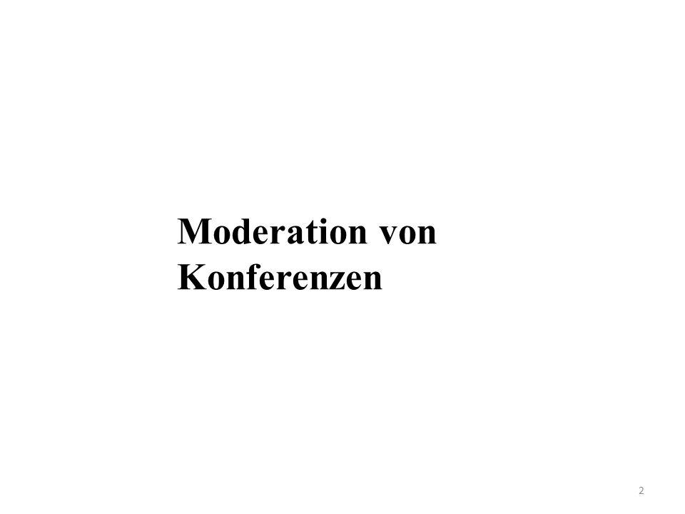 Moderation von Konferenzen 2