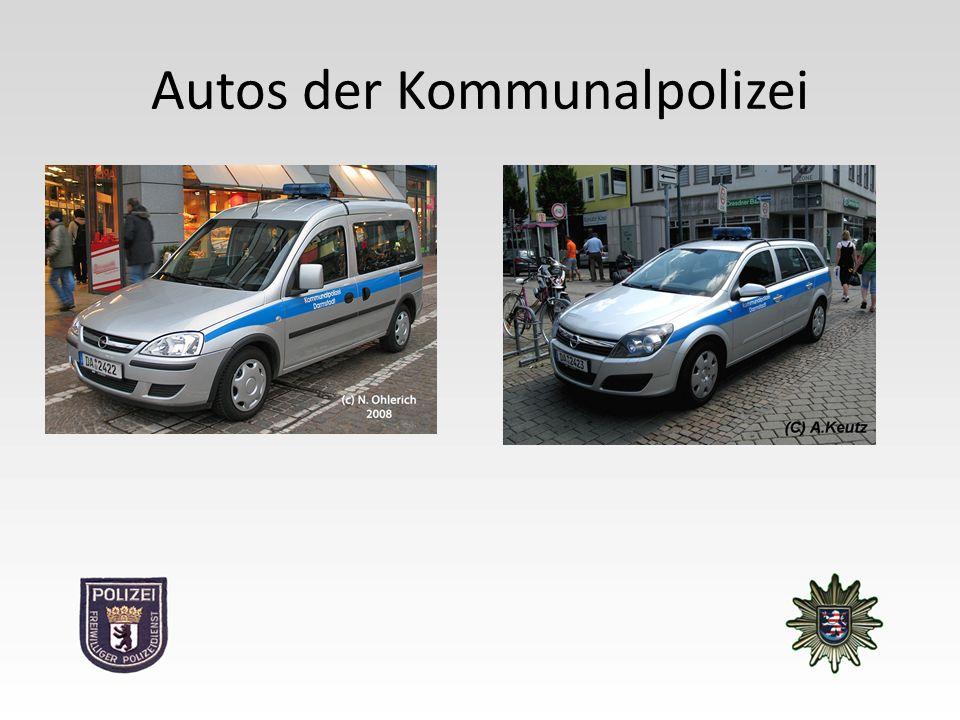 Autos der Kommunalpolizei