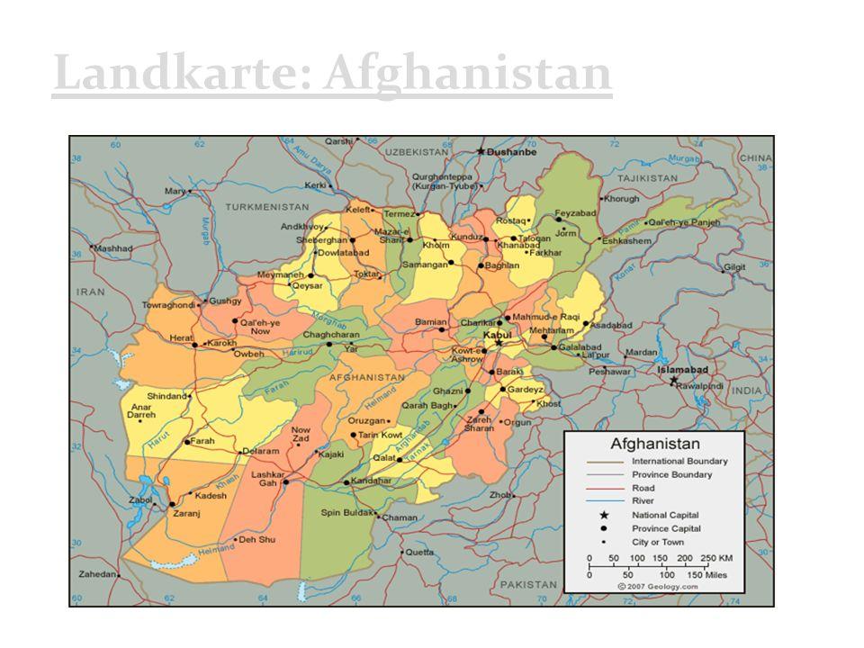 Landkarte: Afghanistan