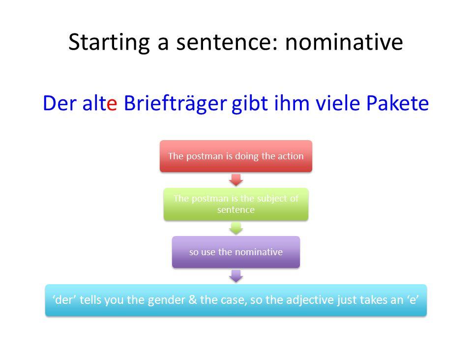 Dative + prepositions Gegenübere.g.gegenüber dem alten Dom Außere.g.