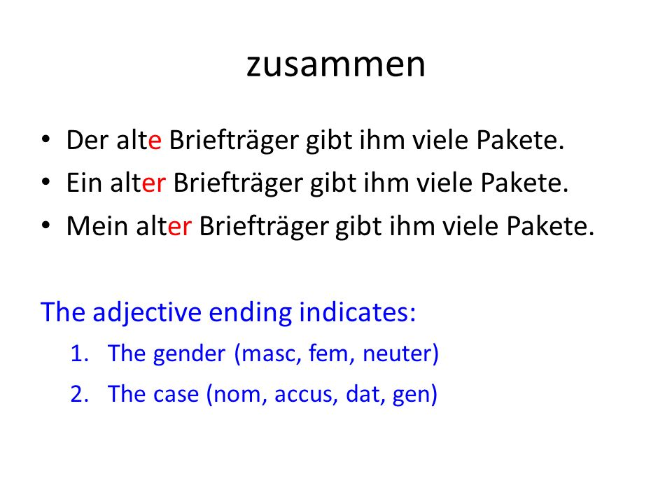 Dative & verbs A few verbs use the dative case (see p24) You will know a lot of these verbs already & now you need to start noticing that they use the dative case & using them yourselves.