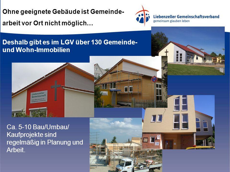 Ohne geeignete Gebäude ist Gemeinde- arbeit vor Ort nicht möglich… Deshalb gibt es im LGV über 130 Gemeinde- und Wohn-Immobilien Ca.