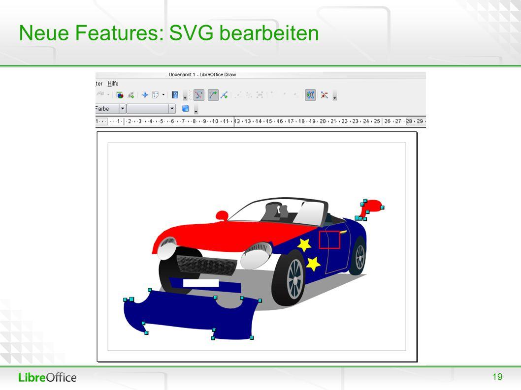 19 Neue Features: SVG bearbeiten