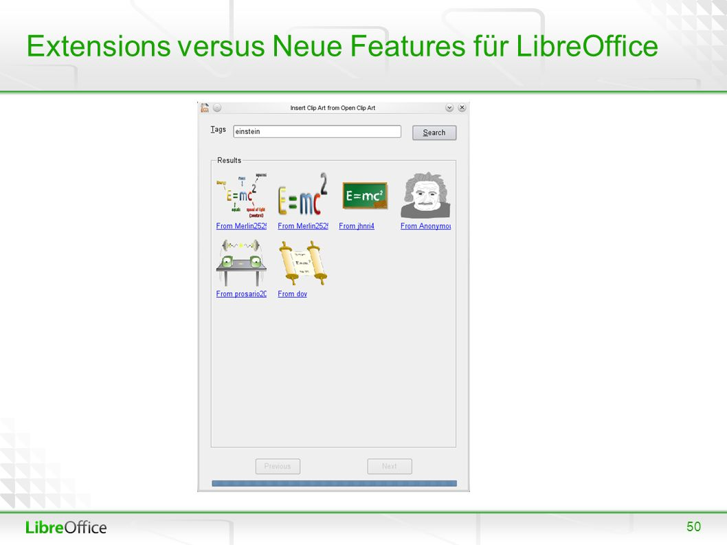 50 Extensions versus Neue Features für LibreOffice