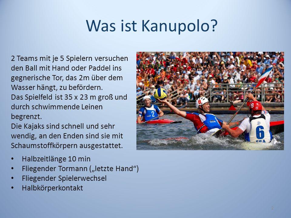 3 Kanupolo Kanupolo in Wien Trainingsstätte an einem der meist besuchten Orte der Alten Donau 4 Trainingseinheiten à 2-3 Stunden pro Woche Schülerteam.