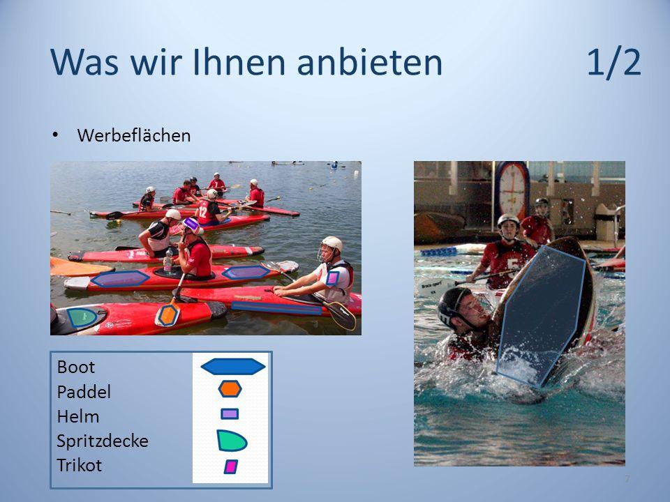 Was wir Ihnen anbieten1/2 7 Boot Paddel Helm Spritzdecke Trikot Werbeflächen