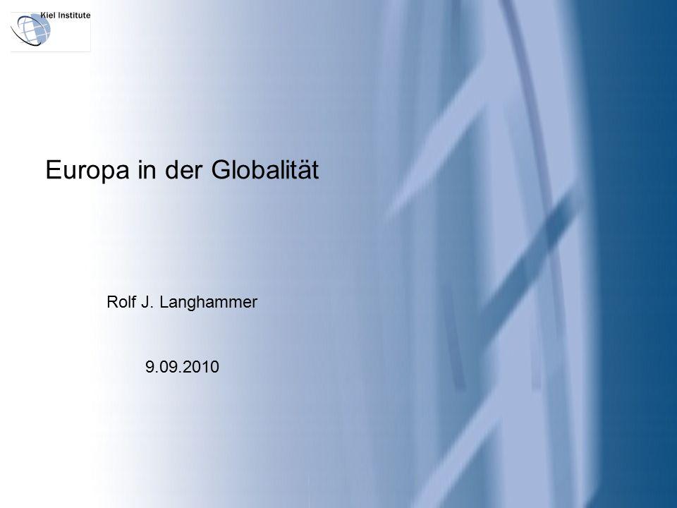 I.Eingangs: drei gute und drei schlechte Nachrichten II.Die hausgemachten Herausforderungen an Europa in der Globalität III.Die importierten Herausforderungen Europas in der Globalität IV.Realitäten V.Notwendige Wegmarken für Europas Zukunft Europa in der Globalität