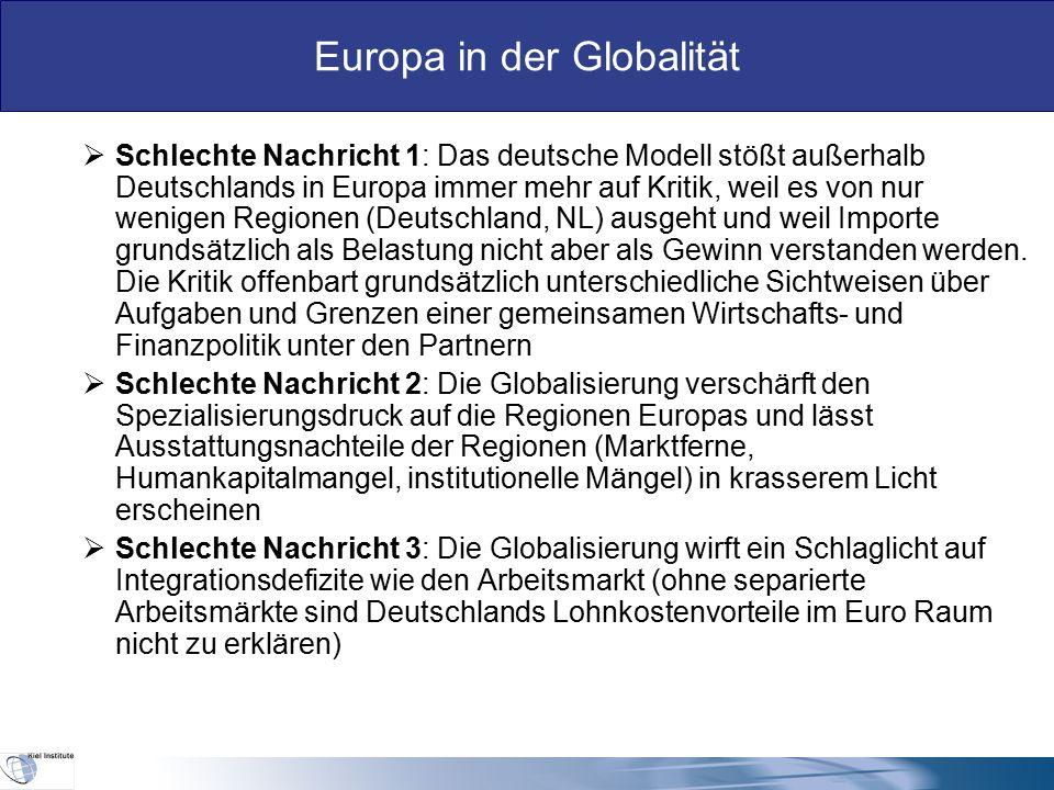 Europa in der Globalität II.Die hausgemachten Herausforderungen an Europa in der Globalität  Das Governance-Problem: Wen ruft das Ausland an, wenn es Europa verlangt.