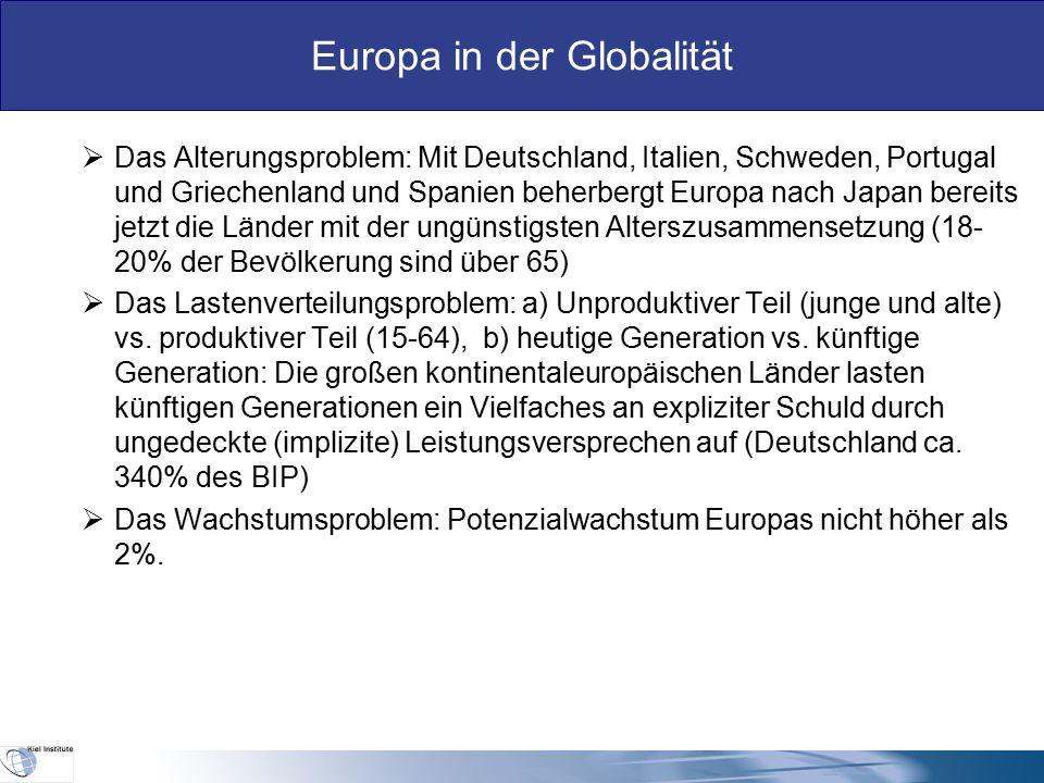 Europa in der Globalität III.Die importierten Herausforderungen Europas in der Globalität  Das Problem grenzüberschreitender mobiler Dienstleistungen  Die Besteuerungsbasis wird mobiler.
