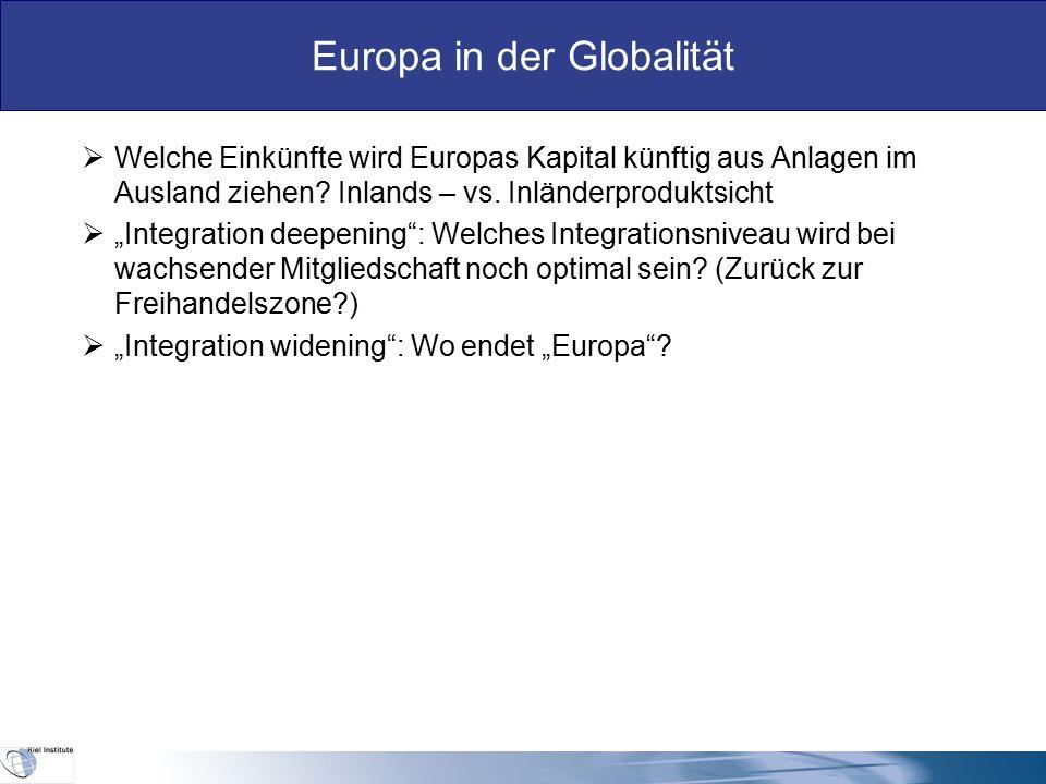 """Europa in der Globalität IV.Realitäten  Eine Transferunion (""""Europaternalismus :Snower) ist politisch gegen die Geberländer nicht durchsetzbar."""