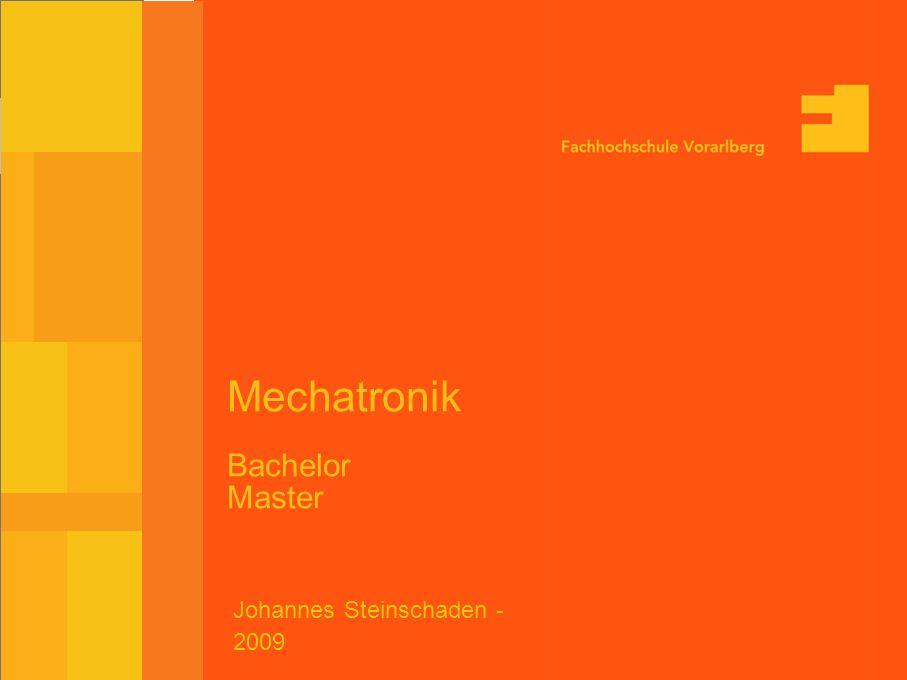 Mechatronik Bachelor Master Johannes Steinschaden - 2009