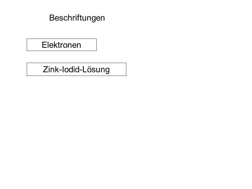 Beschriftungen Elektronen Zink-Iodid-Lösung